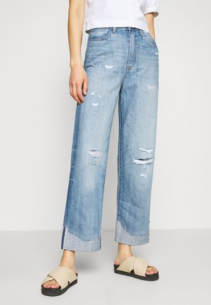 TEDIE ULTRA HIGH STR TU RP ANKLE WMN - Straight leg jeans - faded stream restored