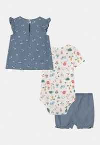 Carter's - CHAMBRAY FLORAL SET - T-shirt imprimé - blue - 1