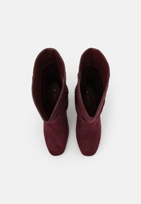 Dorothy Perkins Wide Fit - WIDE FIT BLOCK BOOT - Boots - burgundy - 5