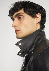 Goosecraft - VICK BIKER - Leather jacket - black - 4