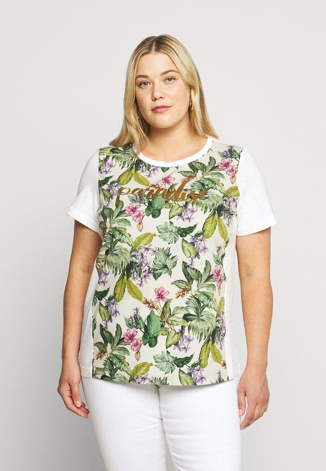 VEDETTA - Camiseta estampada - bianco