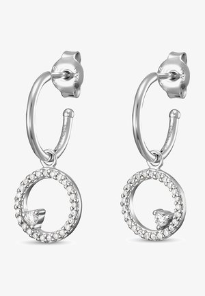 DAMEN-OHRSTECKER 925ER SILBER 1 ZIRKONIA - Earrings - silber