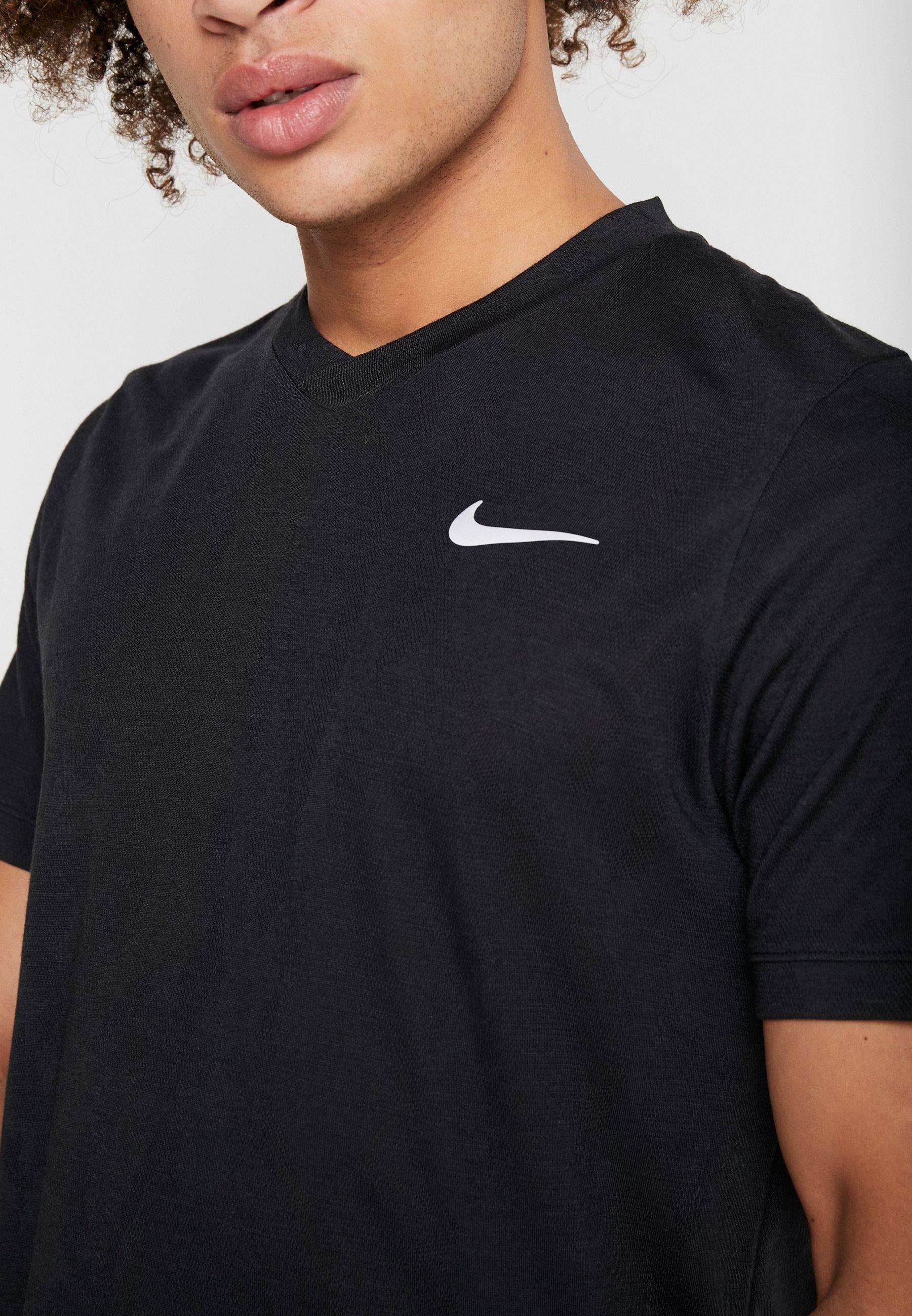 Nike Performance DRY  - T-shirt basique - black/white