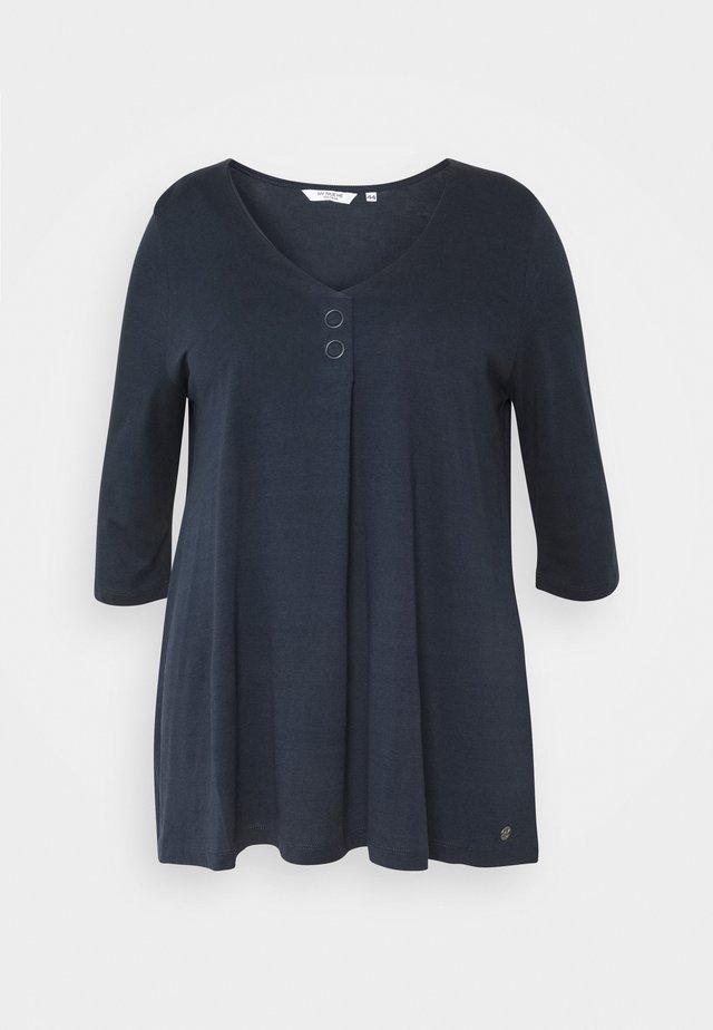 BLOUSE LOOK - Maglietta a manica lunga - sky captain blue