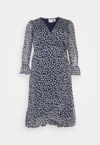 JUNAROSE - by VERO MODA - JRLUNA WRAP DRESS - Korte jurk - navy blazer/snow white - 3