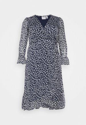 JRLUNA WRAP DRESS - Day dress - navy blazer/snow white