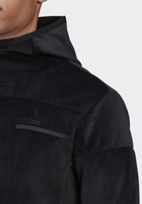 adidas Performance - ADIDAS Z.N.E. FULL-ZIP VELOUR HOODIE - Zip-up hoodie - black - 5