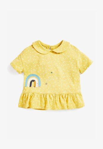 RAINBOW PEPLUM - T-shirt imprimé - yellow