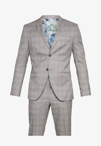 Isaac Dewhirst - CHECK 3 PIECES SUIT - Completo - grey - 15
