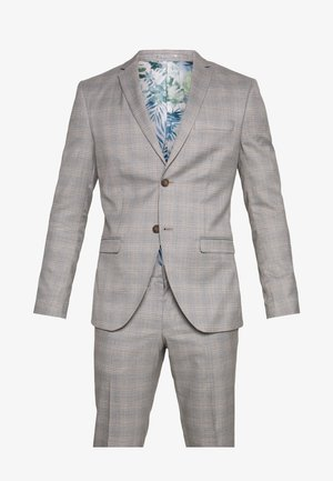 CHECK 3 PIECES SUIT - Traje - grey