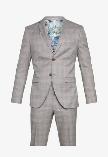 CHECK 3 PIECES SUIT