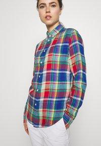 Polo Ralph Lauren - GEORGIA CLASSIC LONG SLEEVE - Bluser - blue/red - 3