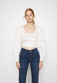 Who What Wear - CROPPED LONG SLEEVE - Blouse - powder - 0