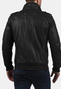 Solid - CAMASH - Leather jacket - black - 1