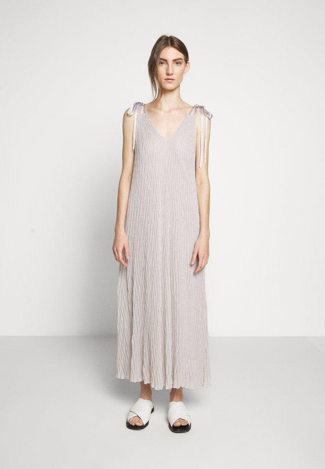 DRESS - Maxi dress - silver