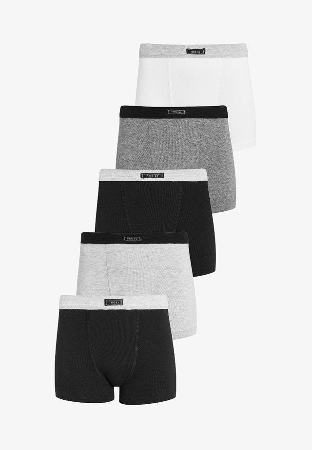 5 PACK - Pants - grey/black/white