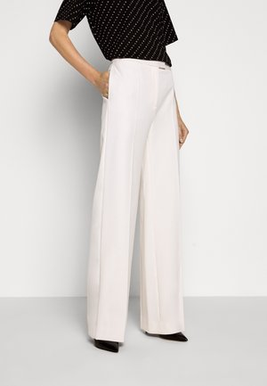 HIGH WAIST STRAIGHT LEG TROUSER - Trousers - cream