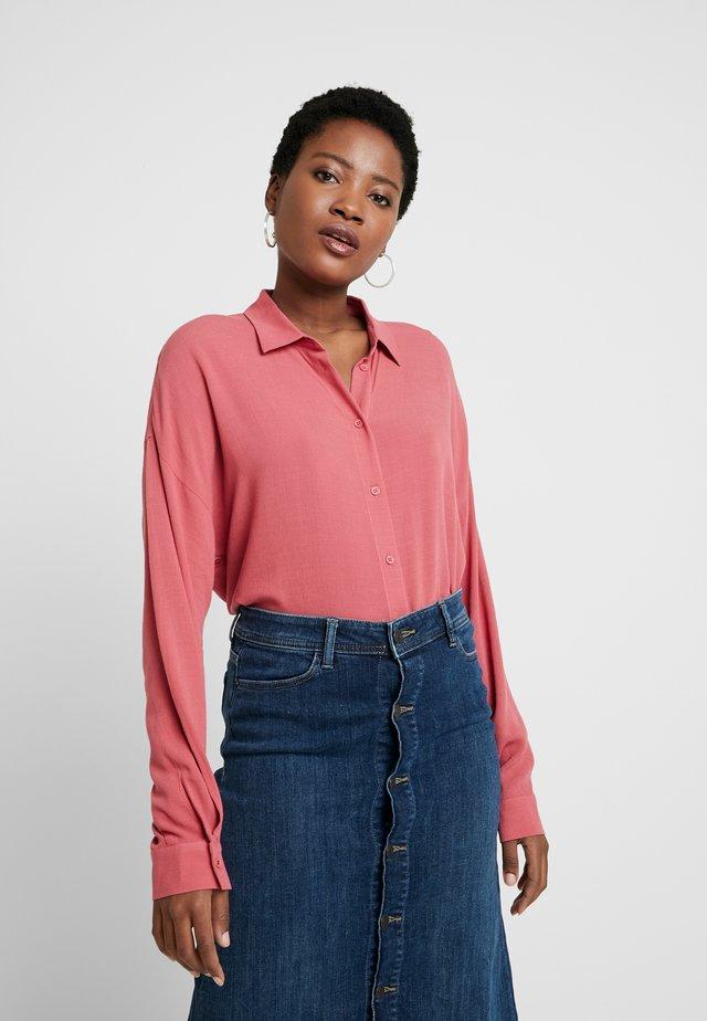 NEW SLUB - Button-down blouse - blush
