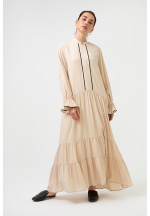 SHIRRED - Maxi dress - beige