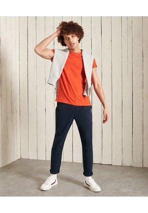 VINTAGE  - T-shirt - bas - bright orange marl
