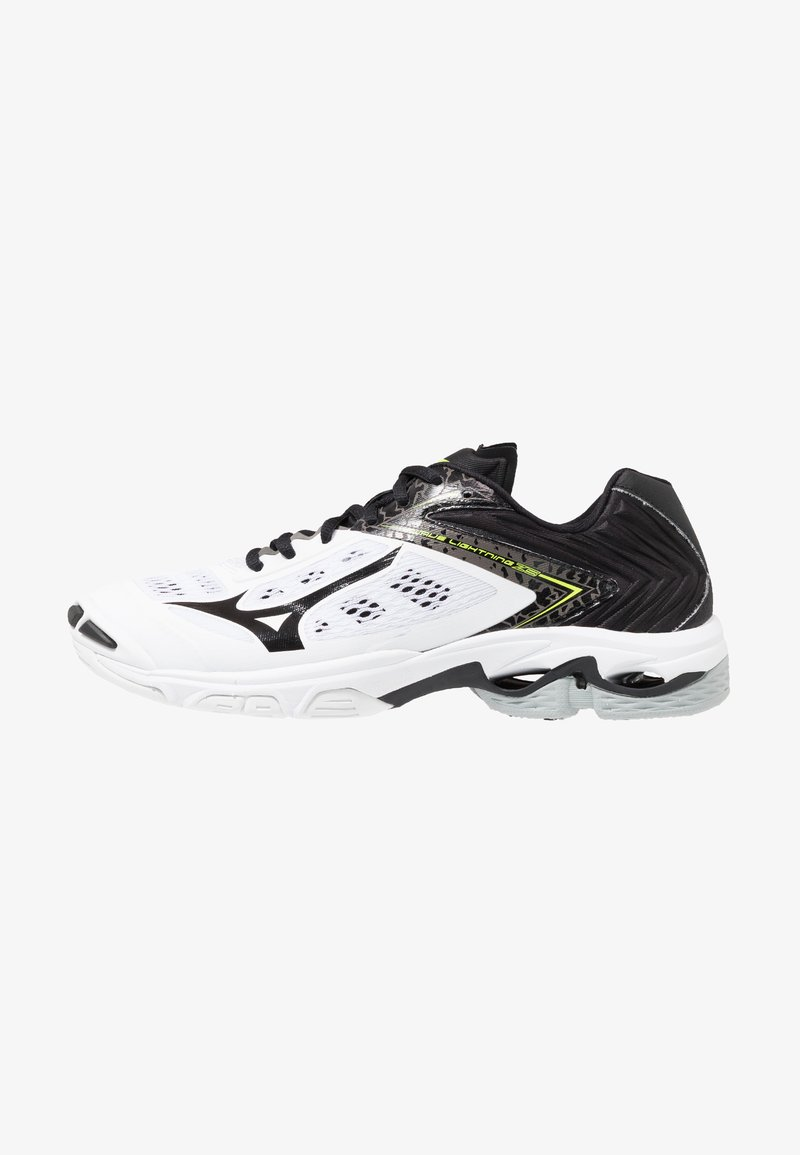 Mizuno - WAVE LIGHTNING Z5 - Volleyball shoes - white/black/safety yellow
