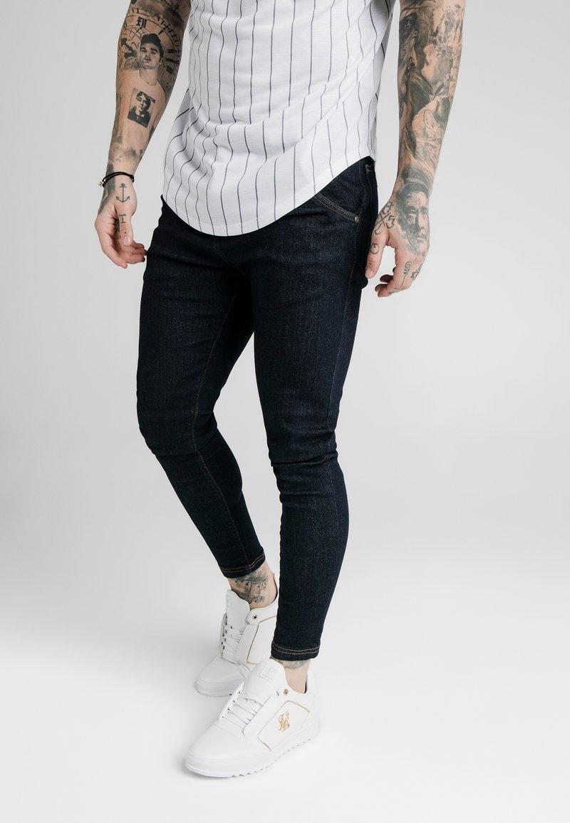 SIKSILK - Skinny džíny - raw indigo