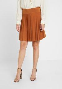 Anna Field Petite - A-line skirt - brown - 0