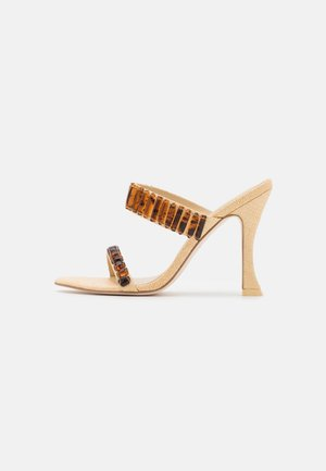 ASH  - Pantofle na podpatku - natural
