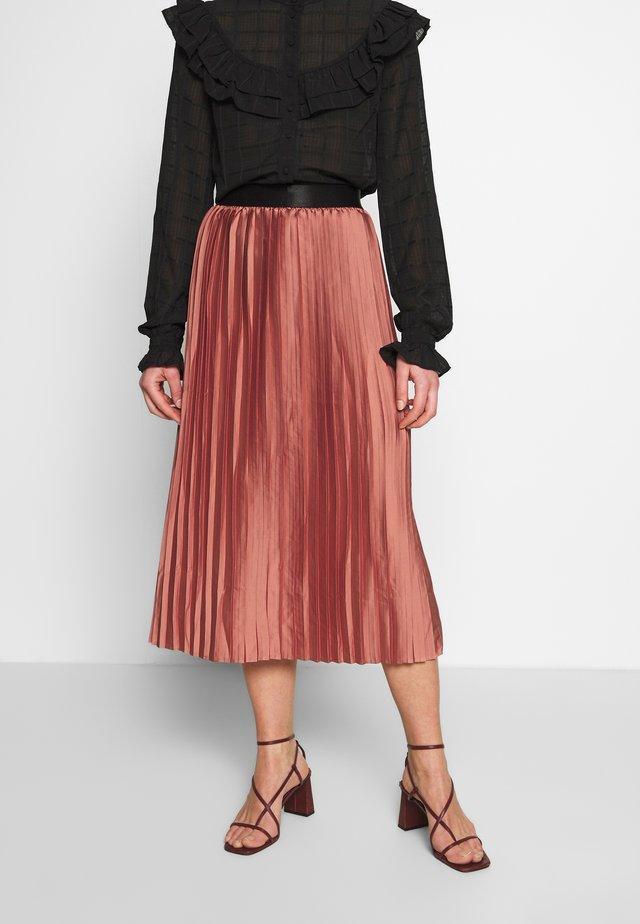 MABELLA SKIRT - Áčková sukně - brick dust