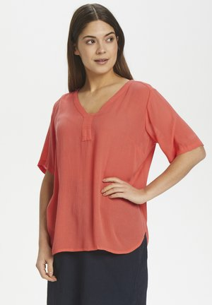 AMBER S/S BLOUSE - Blouse - living coral