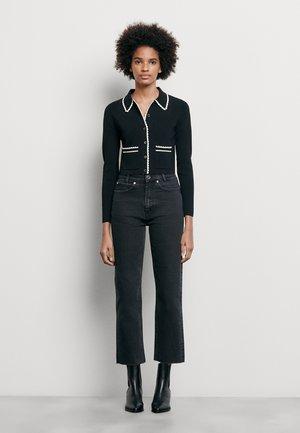 JAYN - Jeansy Straight Leg - black denim