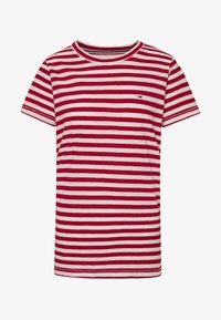 Tommy Jeans - TEXTURED STRIPE TEE - T-shirt con stampa - pink daisy/white - 3