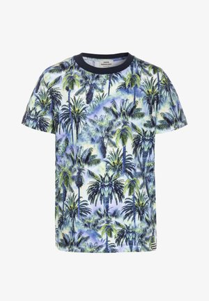 PALMERO THORLINO - Print T-shirt - navy