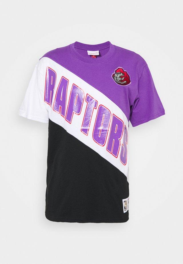 NBA TORONTO RAPTORS PLAY BY PLAY TEE - Article de supporter - purple/ lack