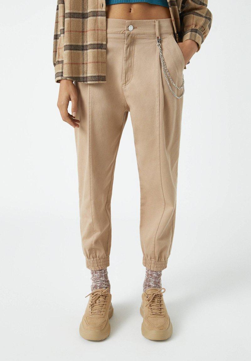 PULL&BEAR - Trousers - mottled brown