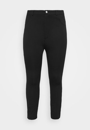 HIGH WAIST 5 pockets PUNTO trousers - Legging - black