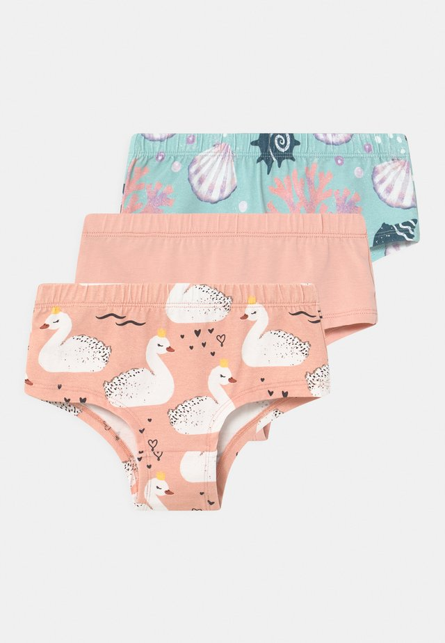 SWANS AND PEARLS 3 PACK - Figi - pink solid