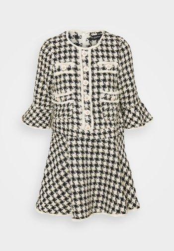 MARBLE BUD MINI DRESS - Shirt dress - black/white