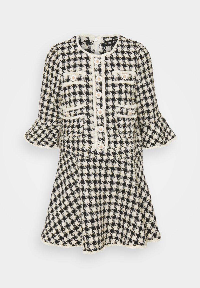 Sister Jane - MARBLE BUD MINI DRESS - Shirt dress - black/white