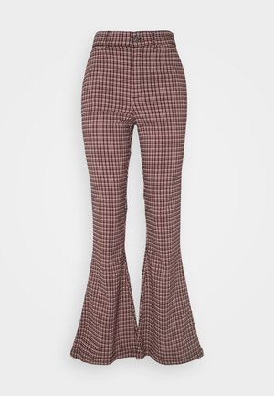 Trousers - red/black