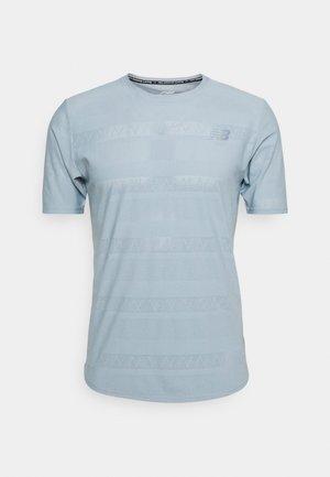 Q SPEED SHORT SLEEVE - Print T-shirt - light slate