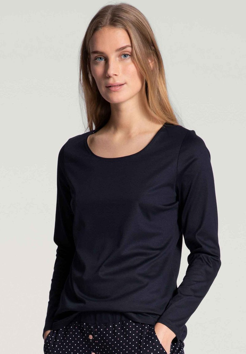 Calida - LANGARM - Pyjama top - darkk lapis blue