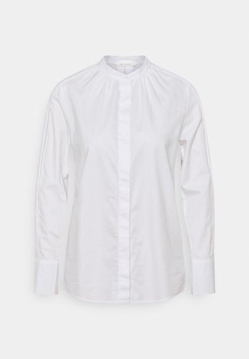 BLOUSE LONG SLEEVE STAND UP COLLAR - Blouse - white