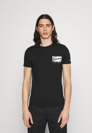 SCRIPT BOX LOGO TEE - T-shirt imprimé - black