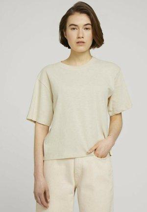 Basic T-shirt - soft creme beige