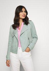 Cartoon - Faux leather jacket - granite green - 0