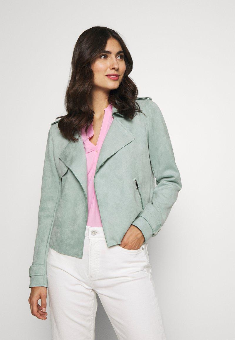 Cartoon - Faux leather jacket - granite green