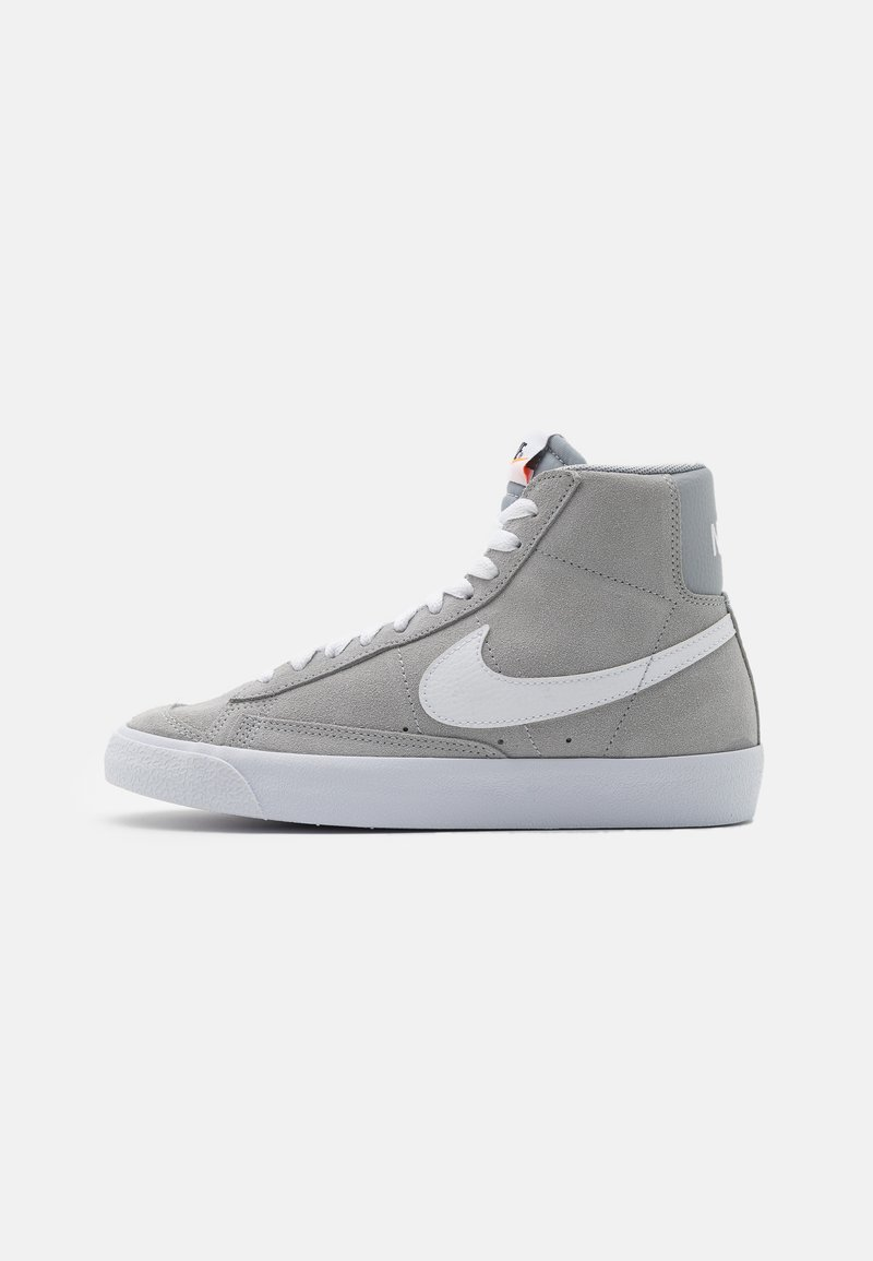 Nike Sportswear - BLAZER MID '77 UNISEX - Zapatillas altas - wolf grey/white/black/total orange