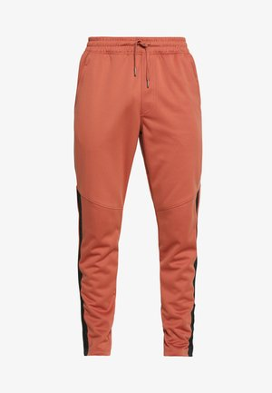 ATHLETE RECOVERY WARM UP BOTTOM - Tracksuit bottoms - cedar brown/metallic silver