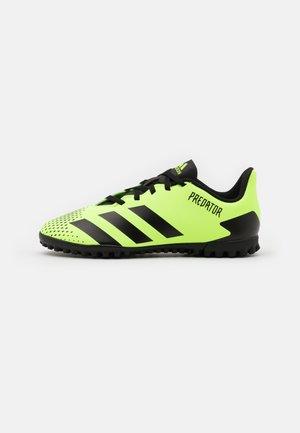 PREDATOR 20.4 FOOTBALL BOOTS TURF UNISEX - Astro turf trainers - signal green/core black